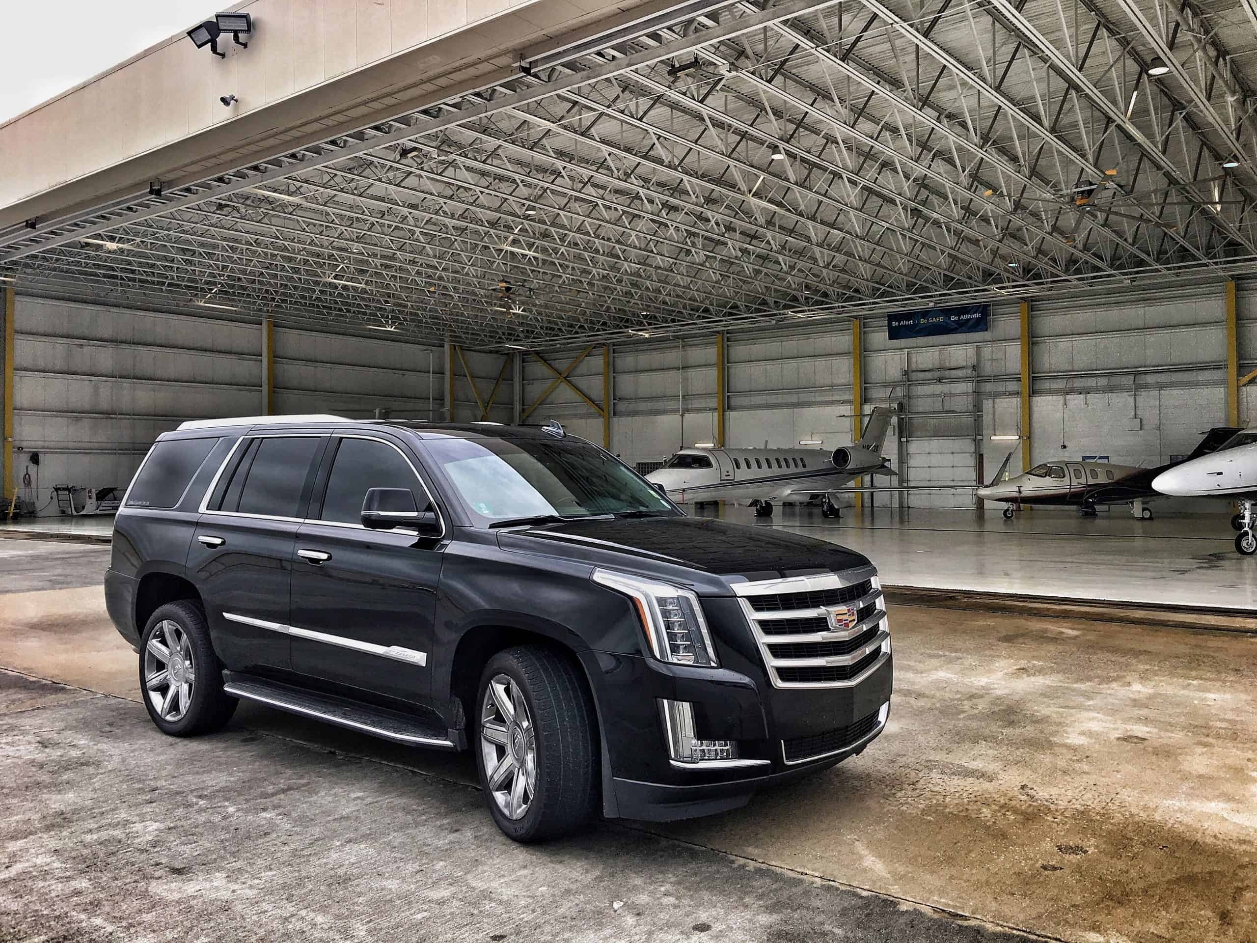 Escalade SUV at the executive airport