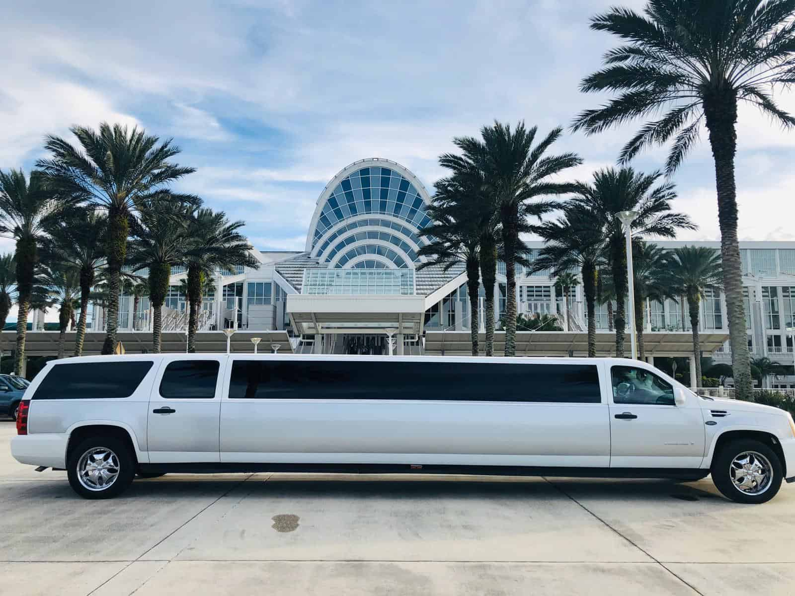 Escalade Limousine outside the Orange County Convention Center