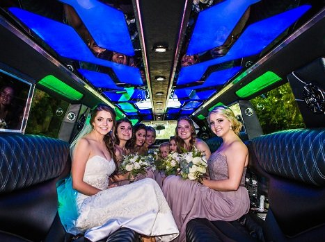 Wedding Bride in a Cadillac Escalade