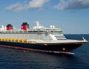 Disney Cruise sailing in the ocean