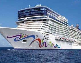 Norwegian Cruise sailing in the ocean