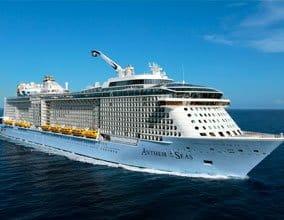 Royal Caribbean Cruise sailing in the ocean