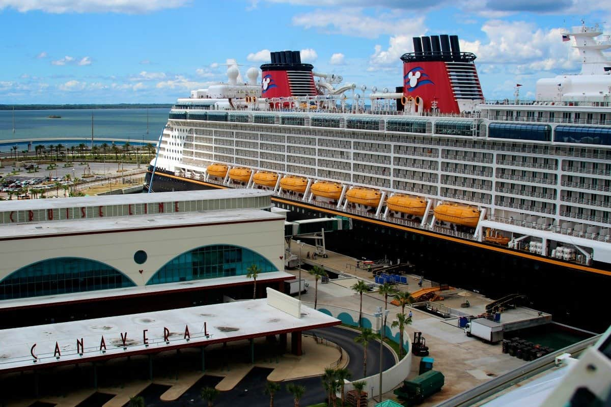 Aerial View of Disney Cruise Terminal at Port Canaveral