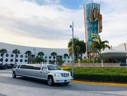 Escalade Limo at the Beach Club Resort in Disney