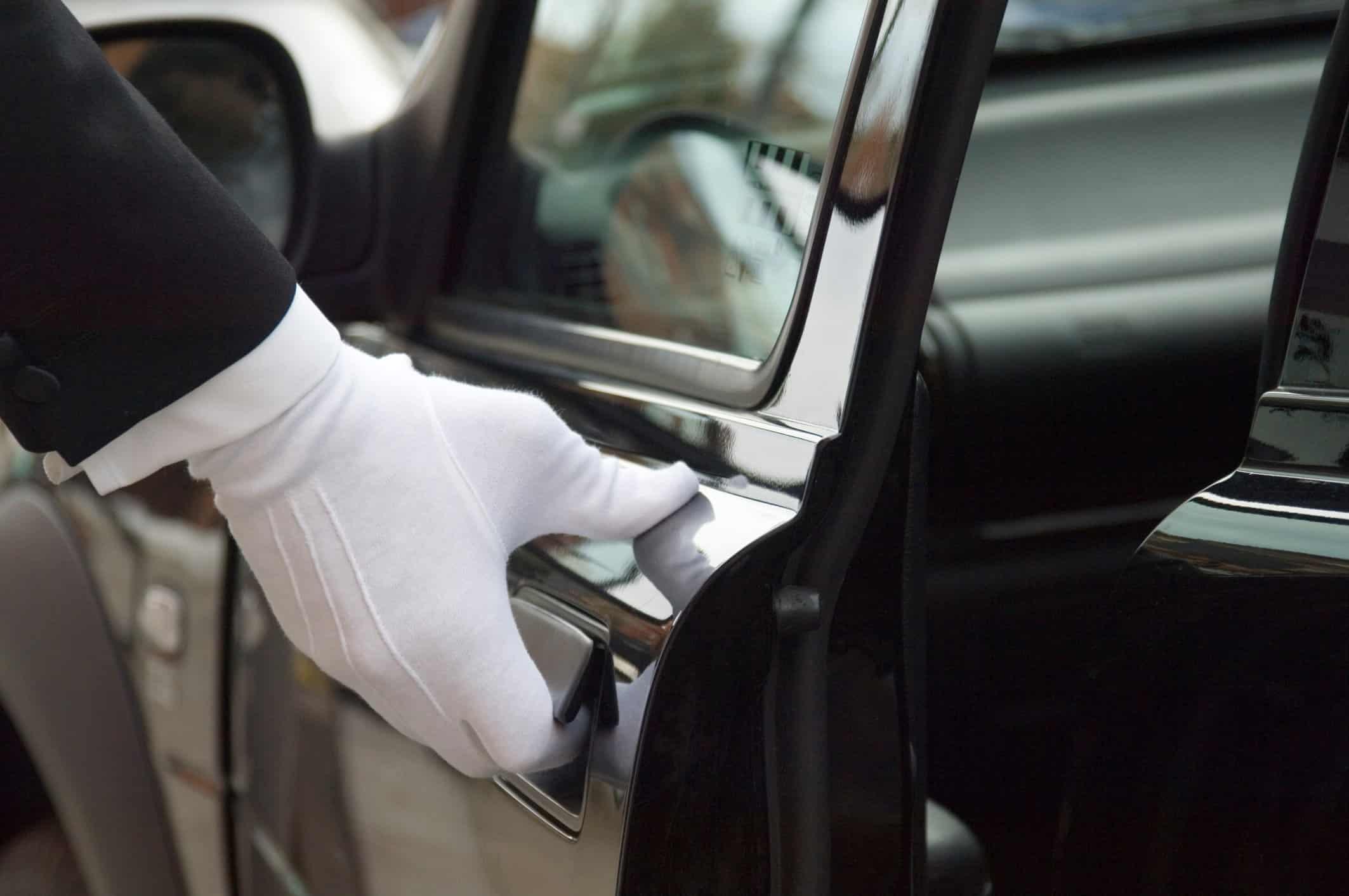 Chauffeur Opening Door