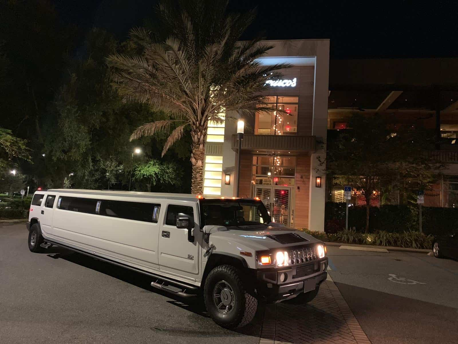 Hummer Limo Outside a Restaurant in Orlando