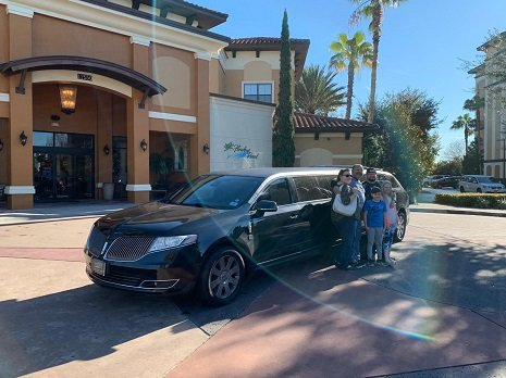 Lincoln Black MKT Limo - Family at Disney Resort